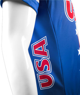 USA Cycling Jersey Side Panel