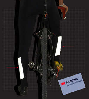 cycling tights have reflective ankles