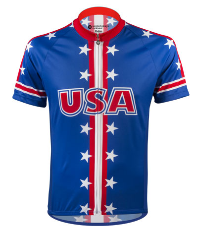 USA Themed Cycling Jersey - Front
