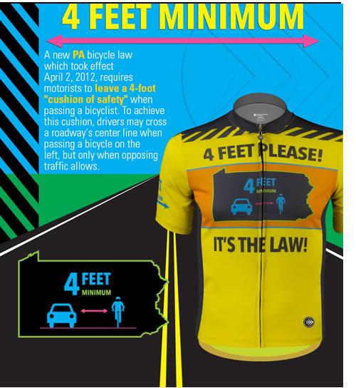 Pennsylvania bicycle 4 feet passing law