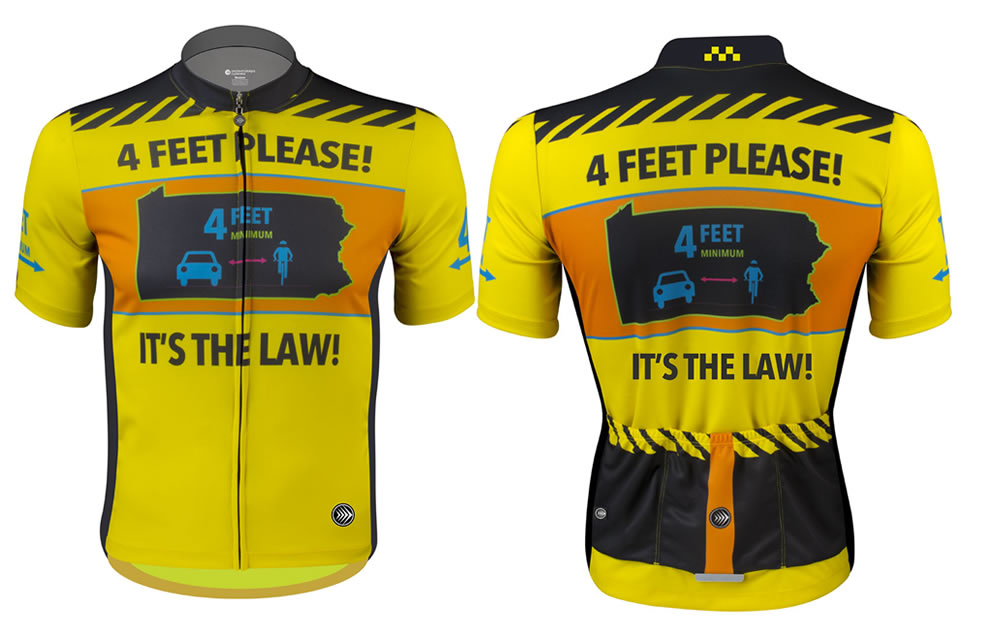 4 feet please - bicycle passing law