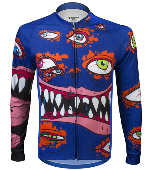 eyes on road halloween monster cycling jersey
