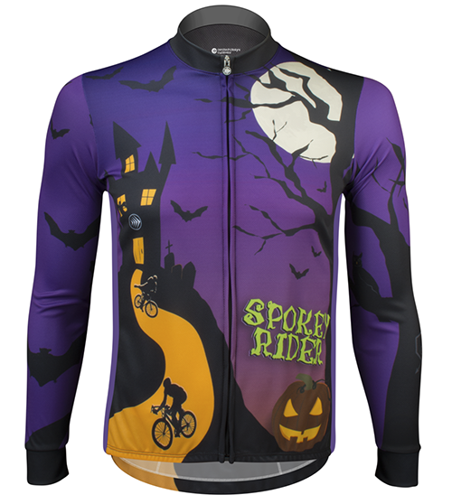 Spokey Rider Halloween cycling jersey