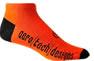 orange cycle sock