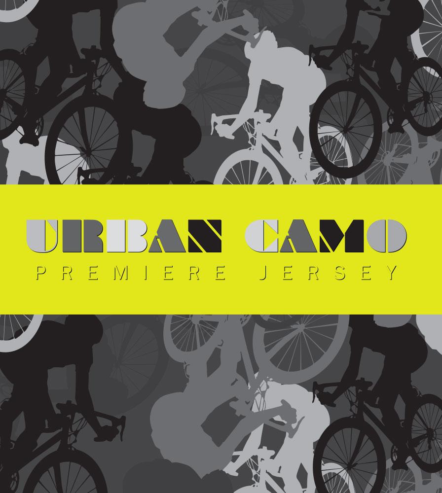 ATD Men's Premiere Urban Camouflage Bike Racing Jersey