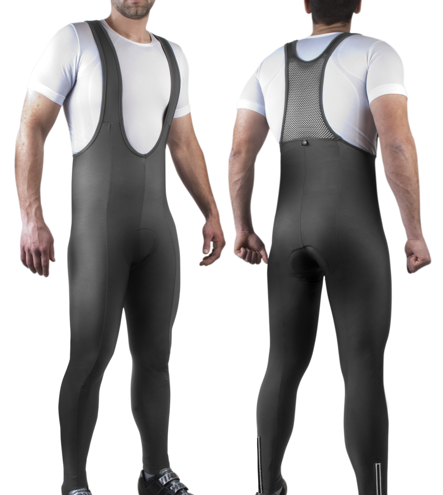 Mens Stretch Fleece Cycling Bibtights Padded