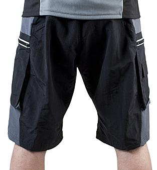 back view of mountain bike shorts