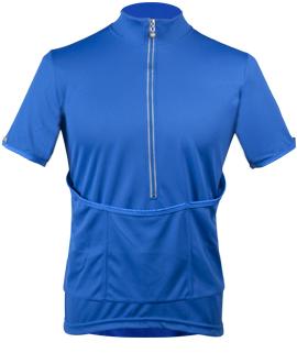 blue recumbent jersey