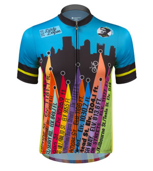 Front view of dirty dozen jersey