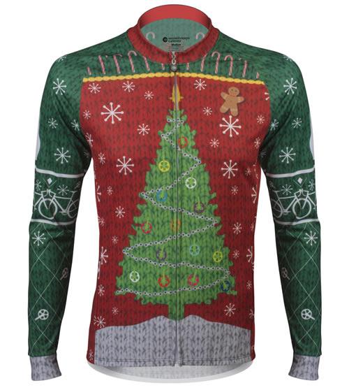 aero tech designs ugly christmas sweater a full zip cycling jersey jacket - Christmas Jacket
