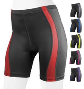 aero tech matching red bike shorts