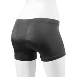 black padded short