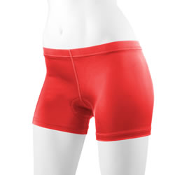 front view of red padded mini