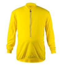 big man's yellow long sleeve bike jersey