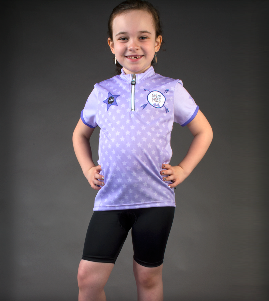 girl in padded bicycling shorts