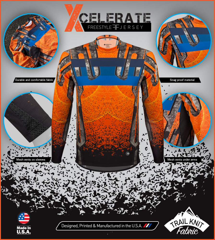 Mountain Bike Freestyle Jersey Features