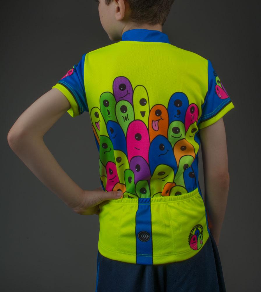 glowWorm Kids cycling jersey high visibility