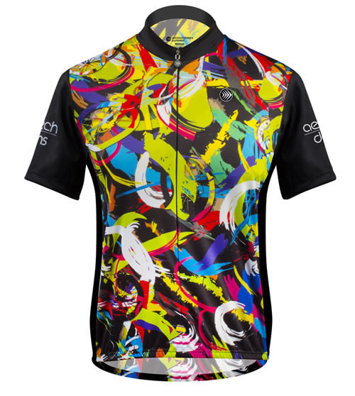 front view of cycling jersey