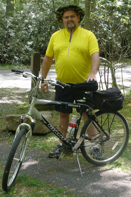 Big Man's Cycling Jersey in Yellow