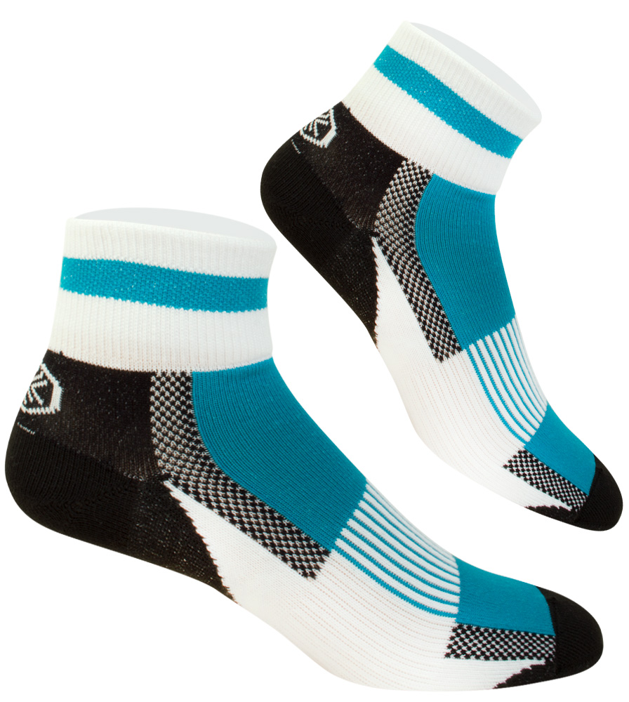 Teal USA Coolmax Athletic Cycling Sock