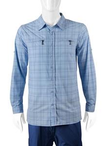 Tall man's Light Blue Commuter Shirt