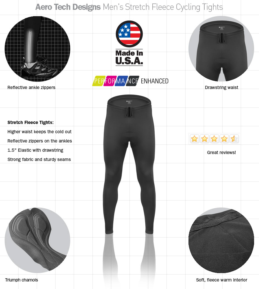 full features of cycling tights that have padding for long distances