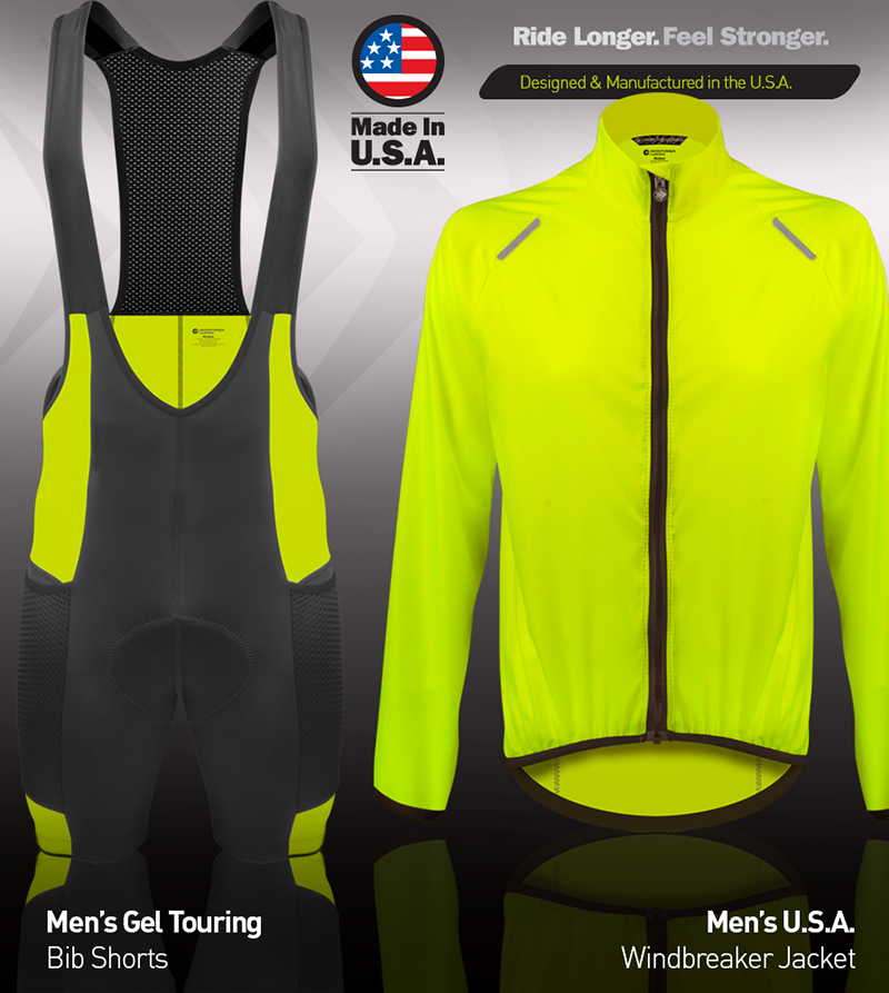 men's high visibility cycling kit