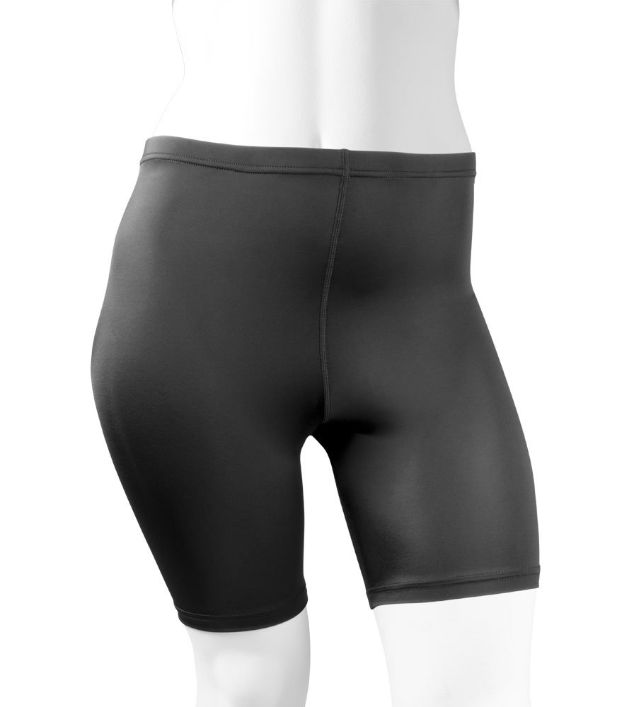 Plus size womens compression workout short for curvy athletic women. high quality durable lycra stretch knit workout shorts that will be your favorites!