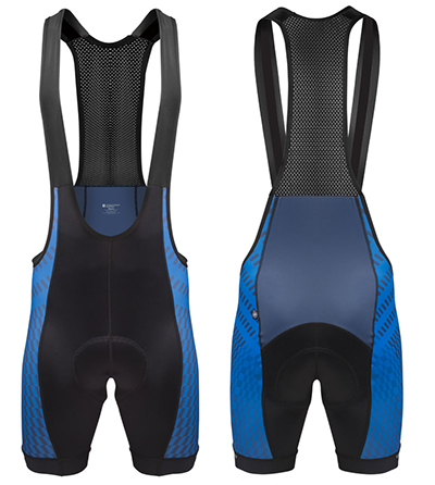 Power Tread Bib Shorts Front and Back