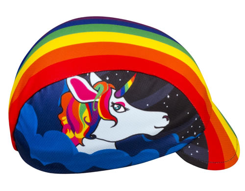 rainbow unicorn cycling hat