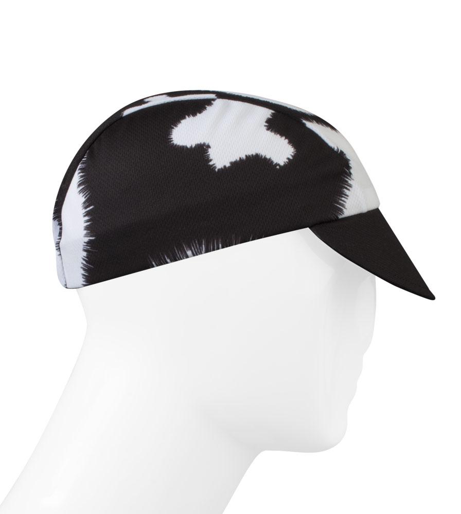 Aero Tech cycling cap - black and white cow print