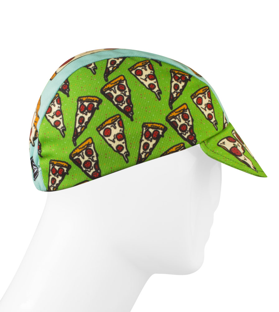 Aero Tech Rush Cycling Caps Pizza Rulez Bike Hat Made