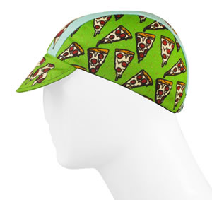 Pizza Rules cycling cap side view