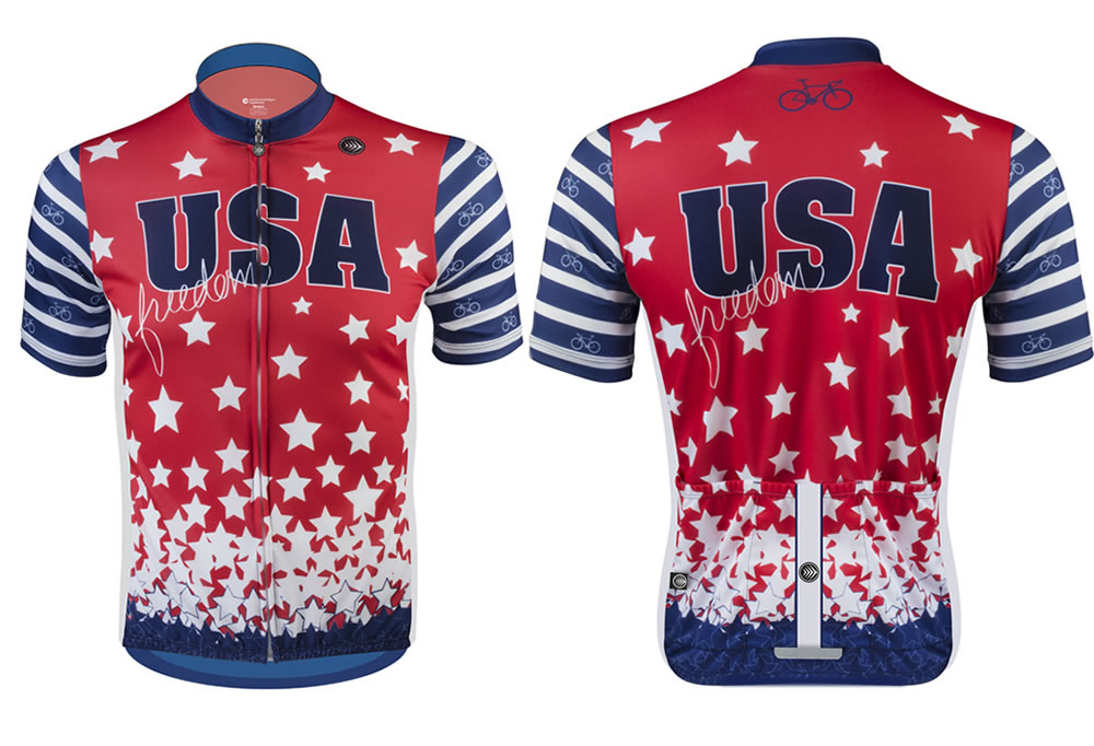 USA Red White and Blue Bike Jersey