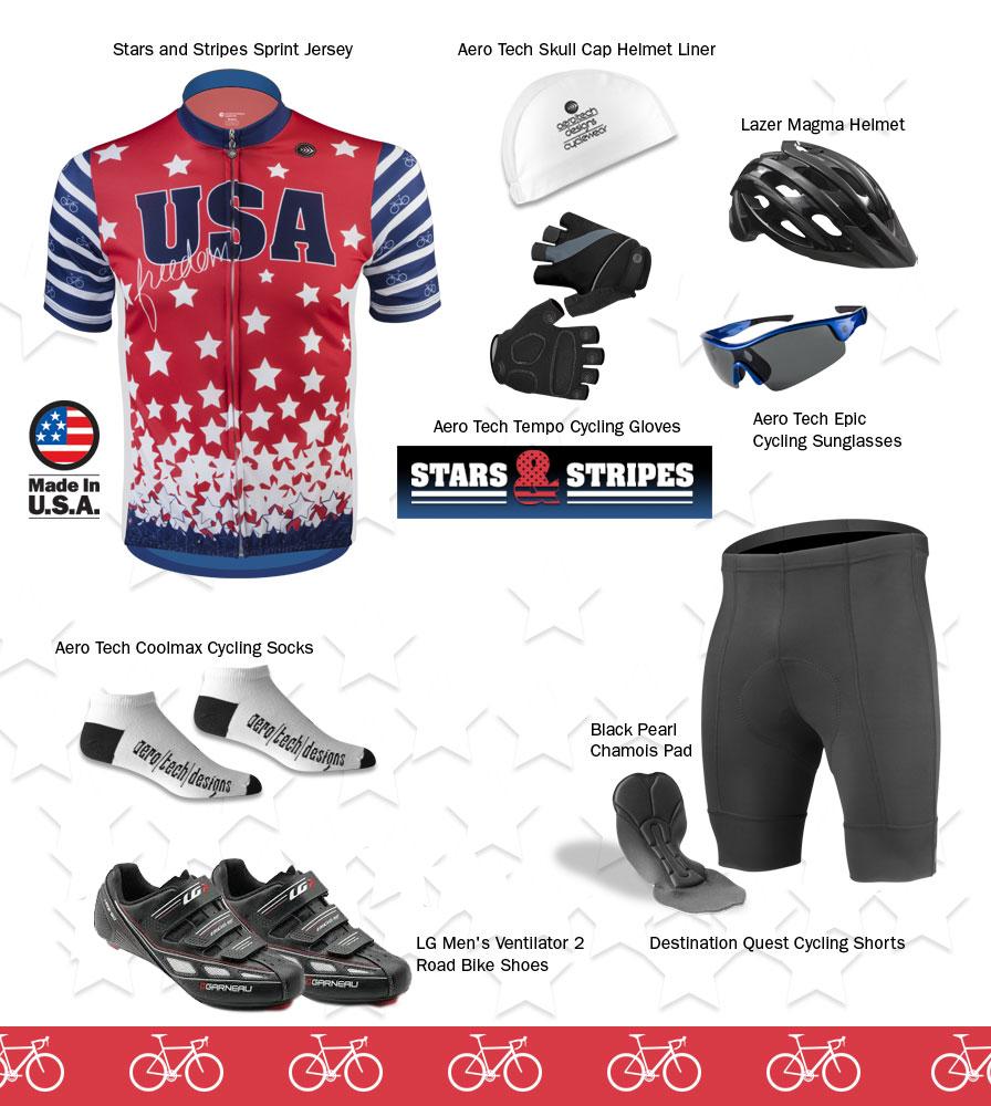 Patriotic cycling kit