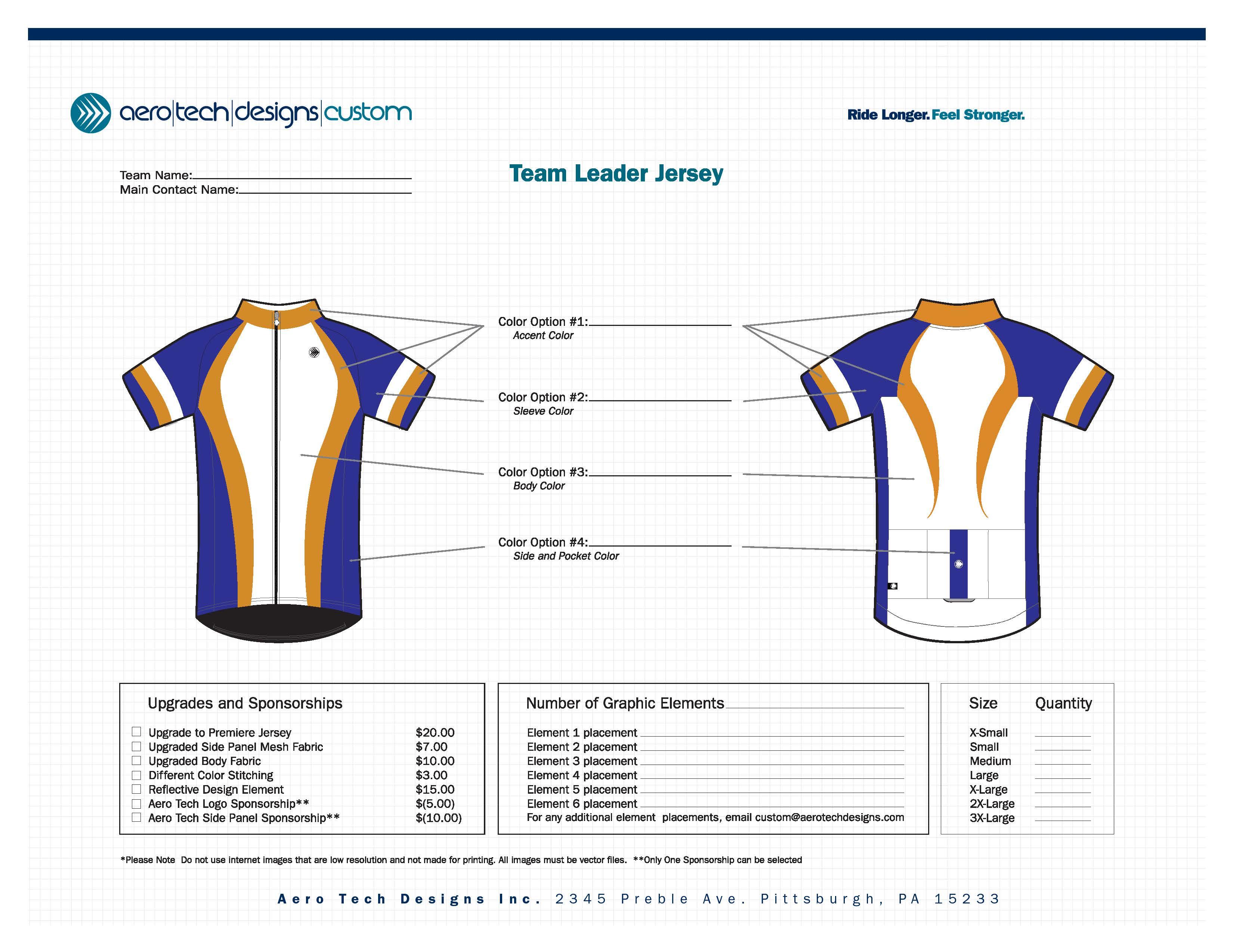 Team Leader Jersey Template