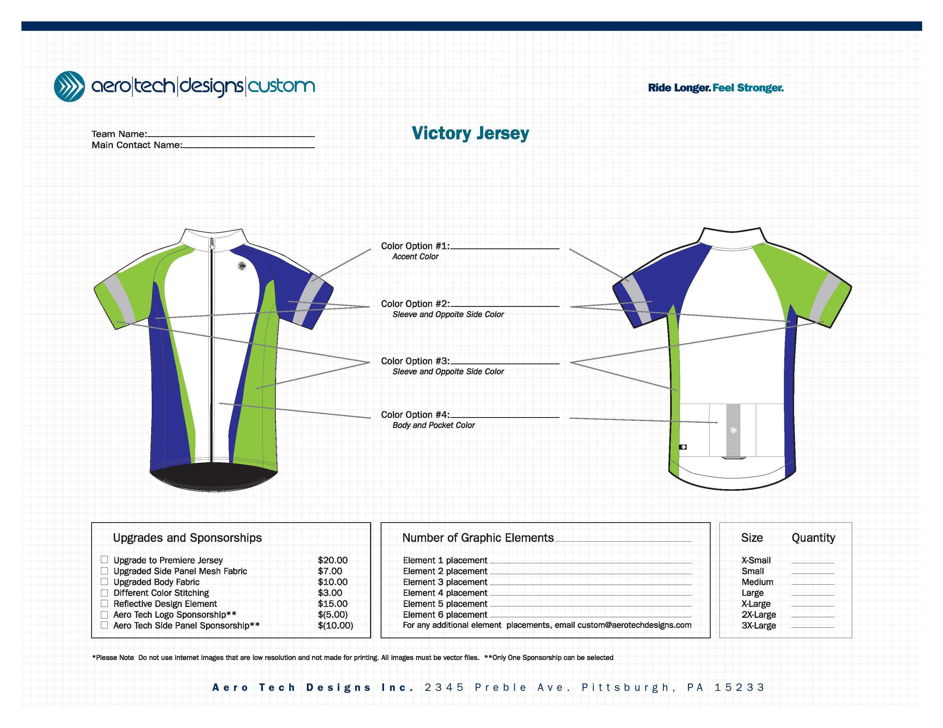 Victory Jersey Template