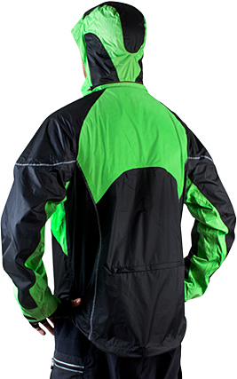 visibility waterproof cycle coat