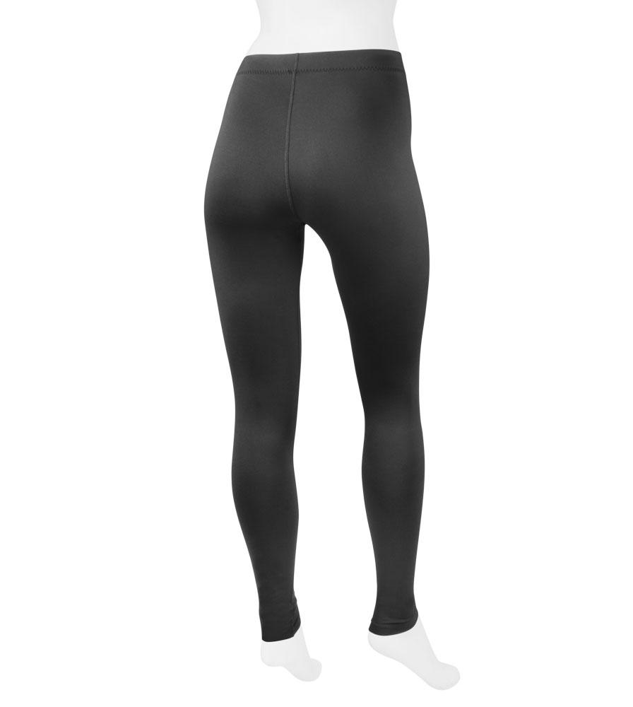 back view of fleece leggings