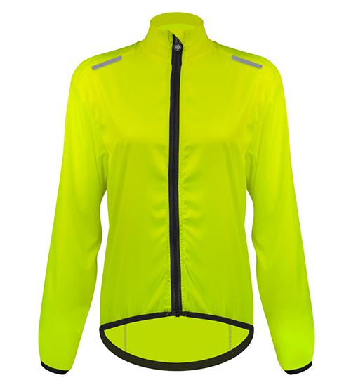 Women's windbreaker high visibility cycling jacket